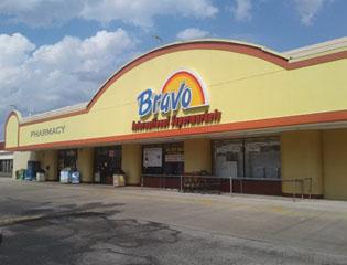 Legacy Pharmacy inside the Bravo Supermarket